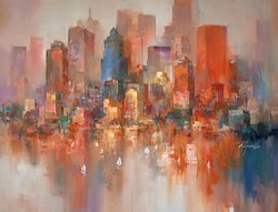 Sunset Glow II by Wilfred -  sized 46x34 inches. Available from Whitewall Galleries